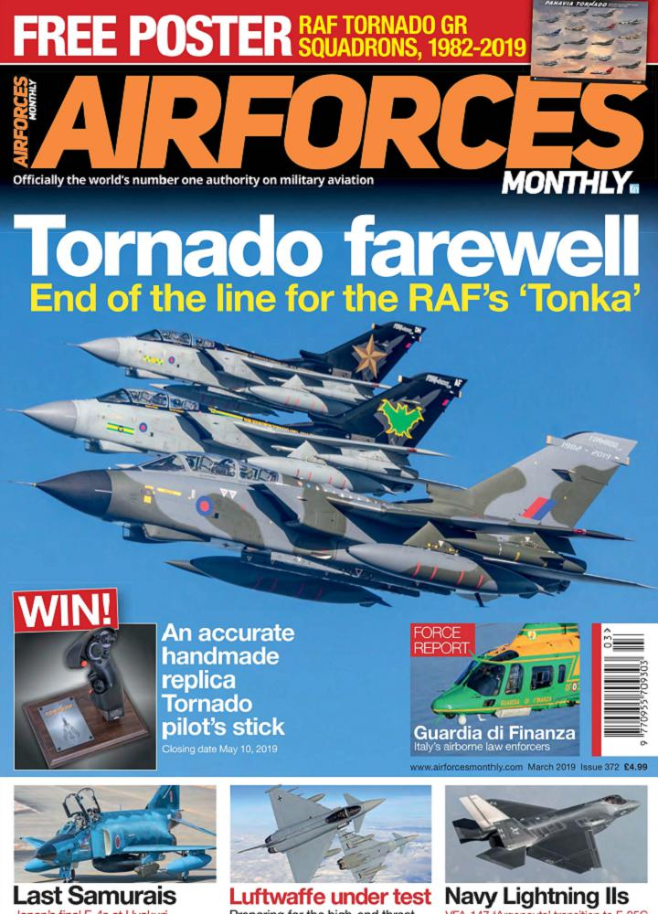 [英国版]Airforces Monthly 2019年03月 英国版 Airforces Monthly 月刊 第1张