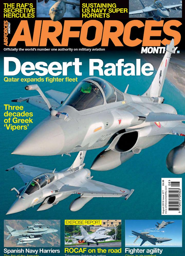 [英国版]Airforces Monthly 2019年08月 英国版 Airforces Monthly 月刊 第1张