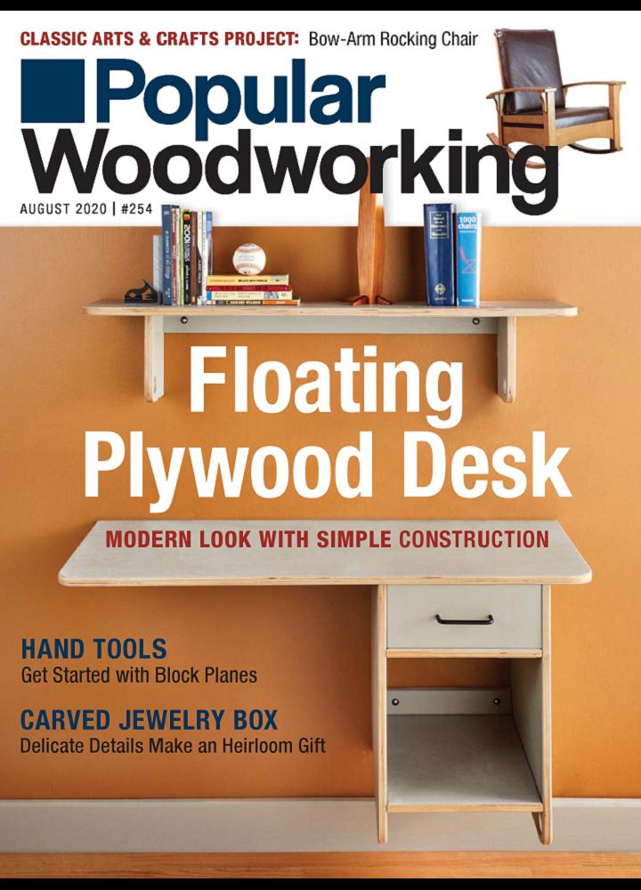 [美国版]流行的木工 Popular Woodworking 2020年08月 美国版 月刊 第1张